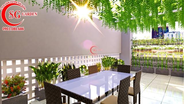 Thiết Kế Sân Vườn Sân Thượng Chị Linh Quận 1 1