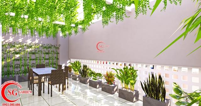 Thiết Kế Sân Vườn Sân Thượng Chị Linh Quận 1 2