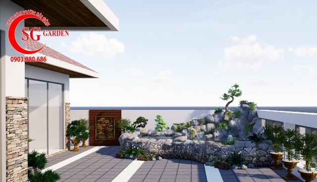 Bản Vẽ Sân Vườn Chị Hạnh Hoàng Hoa Thám 3