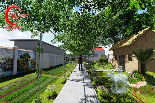 Thiết kế sân vườn nhà anh Bảo Kiên Giang 3