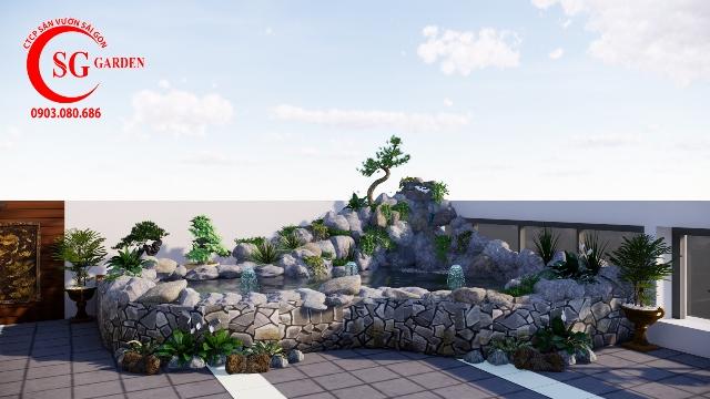 Bản Vẽ Sân Vườn Chị Hạnh Hoàng Hoa Thám 4