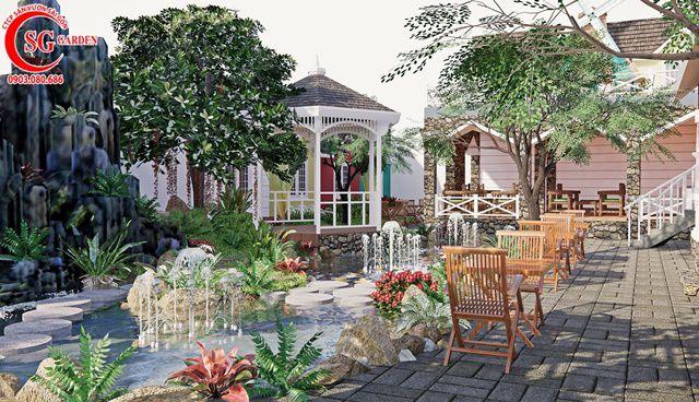 Thiết Kế Quán Cafe Sân Vườn Anh Bình Tỉnh Cần Thơ 11