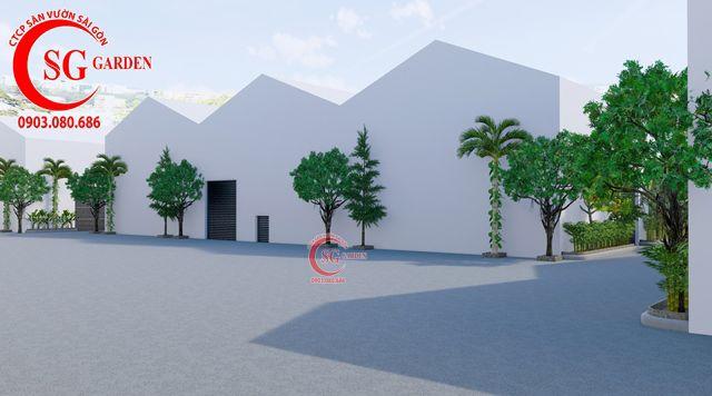 Dự toán và thiết kế khối lượng cây cho công ty Nhựa Long Thành 1