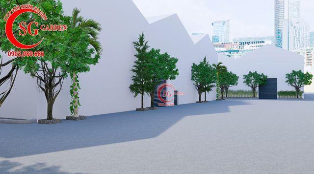 Dự toán và thiết kế khối lượng cây cho công ty Nhựa Long Thành 2