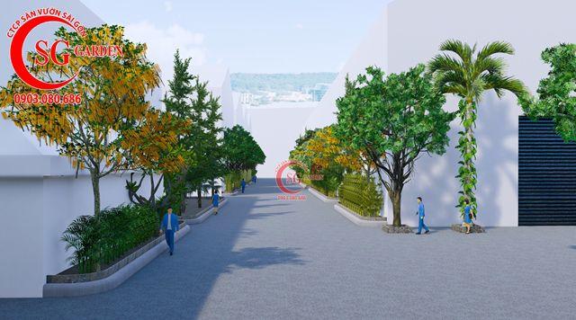 Dự toán và thiết kế khối lượng cây cho công ty Nhựa Long Thành 3