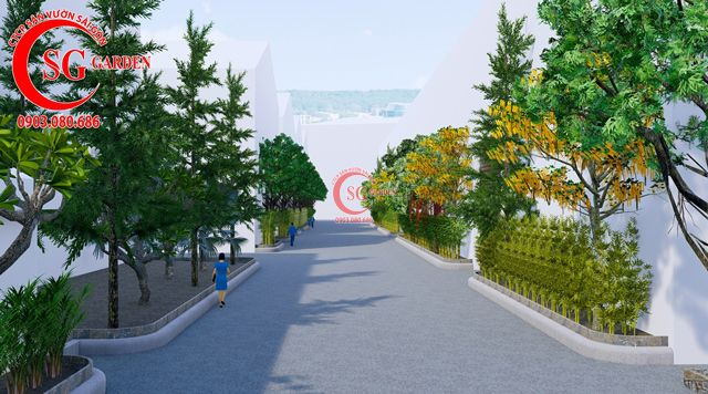 Dự toán và thiết kế khối lượng cây cho công ty Nhựa Long Thành 4