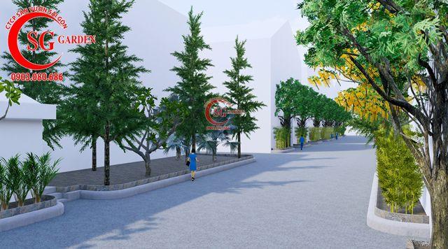 Dự toán và thiết kế khối lượng cây cho công ty Nhựa Long Thành 5
