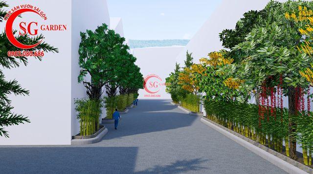 Dự toán và thiết kế khối lượng cây cho công ty Nhựa Long Thành 6