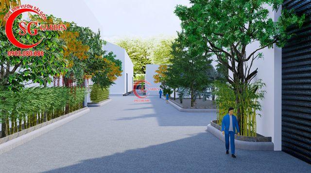 Dự toán và thiết kế khối lượng cây cho công ty Nhựa Long Thành 9