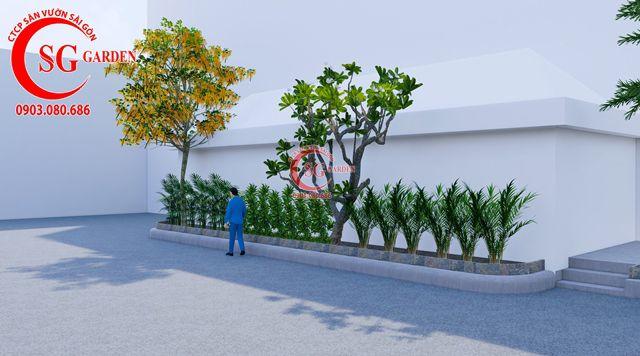 Dự toán và thiết kế khối lượng cây cho công ty Nhựa Long Thành 10