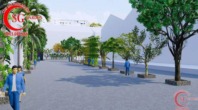 Dự toán và thiết kế khối lượng cây cho công ty Nhựa Long Thành 13