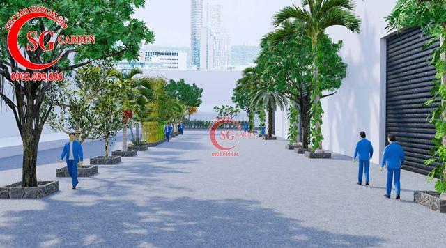 Dự toán và thiết kế khối lượng cây cho công ty Nhựa Long Thành 14
