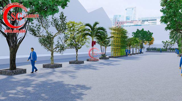 Dự toán và thiết kế khối lượng cây cho công ty Nhựa Long Thành 15