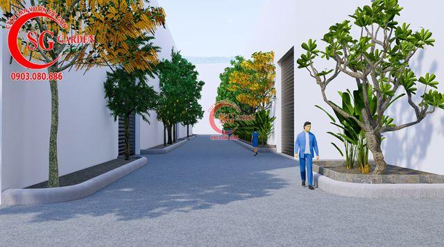 Dự toán và thiết kế khối lượng cây cho công ty Nhựa Long Thành 17