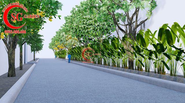 Dự toán và thiết kế khối lượng cây cho công ty Nhựa Long Thành 19