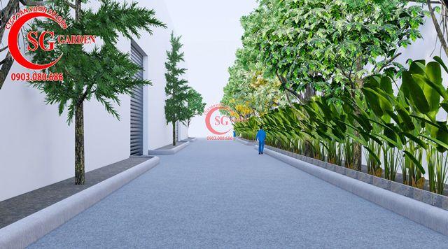 Dự toán và thiết kế khối lượng cây cho công ty Nhựa Long Thành 20