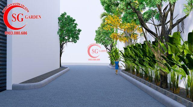 Dự toán và thiết kế khối lượng cây cho công ty Nhựa Long Thành 22