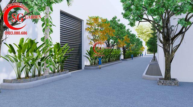 Dự toán và thiết kế khối lượng cây cho công ty Nhựa Long Thành 23