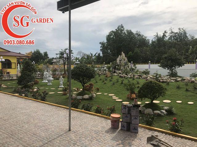 Thi Công Sân Vườn Anh Tú Tỉnh Hậu Giang 5