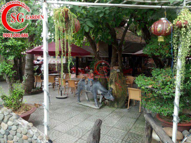Công trình cafe Hương Xưa Hóc Môn 10