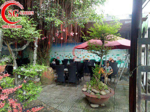 Công trình cafe Hương Xưa Hóc Môn 13