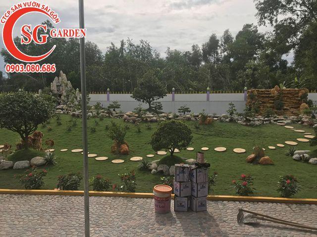 Thi Công Sân Vườn Anh Tú Tỉnh Hậu Giang 7
