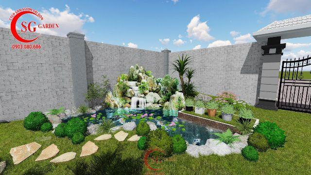 Demo sân vườn anh Hải Vĩnh Long 4
