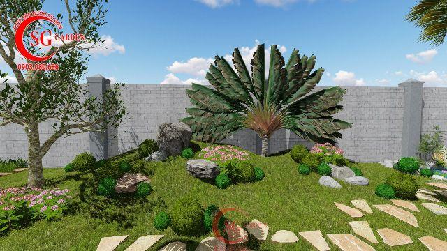 Demo sân vườn anh Hải Vĩnh Long 5