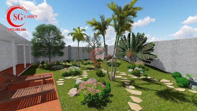 Demo sân vườn anh Hải Vĩnh Long 6