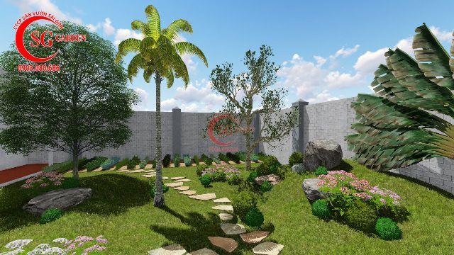 Demo sân vườn anh Hải Vĩnh Long 7