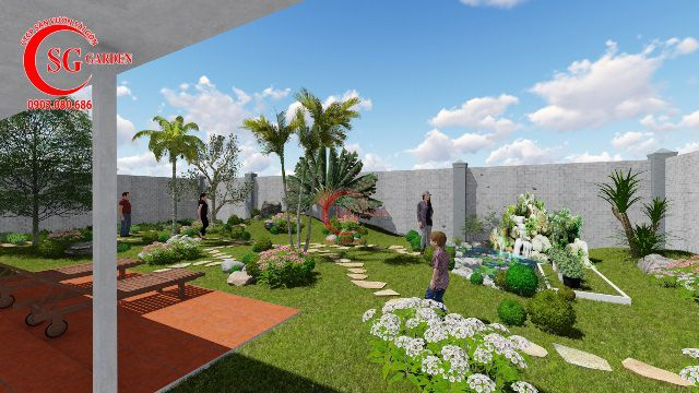 Demo sân vườn anh Hải Vĩnh Long 8