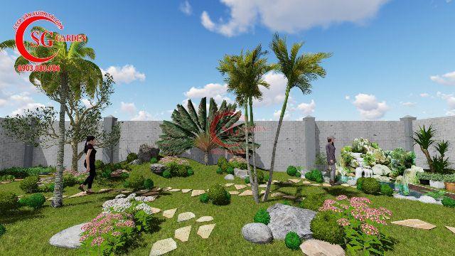 Demo sân vườn anh Hải Vĩnh Long 9