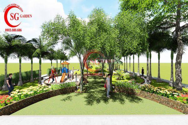 Dự án sân vườn chung cư 4s Thủ Đức 1