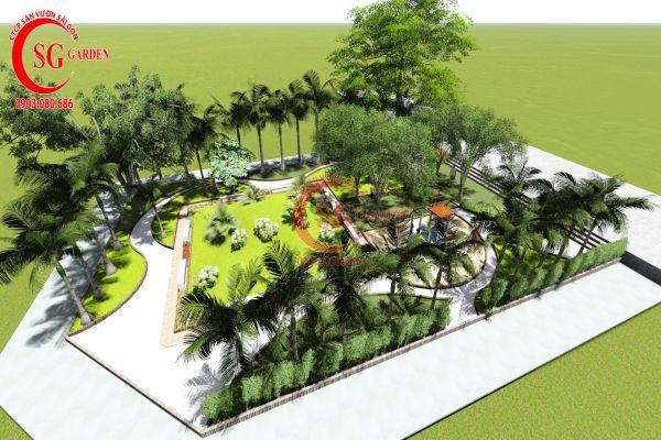Dự án sân vườn chung cư 4s Thủ Đức 4