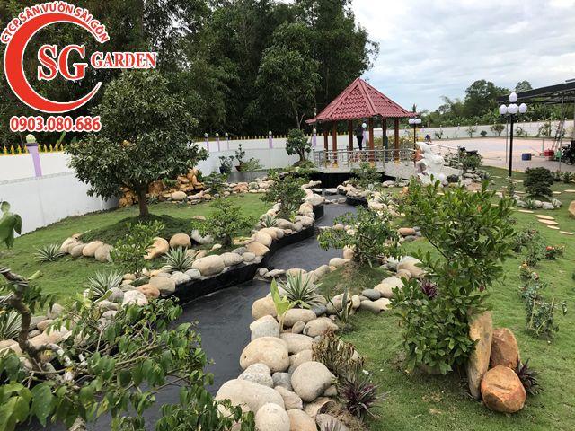 Thi Công Sân Vườn Anh Tú Tỉnh Hậu Giang 9