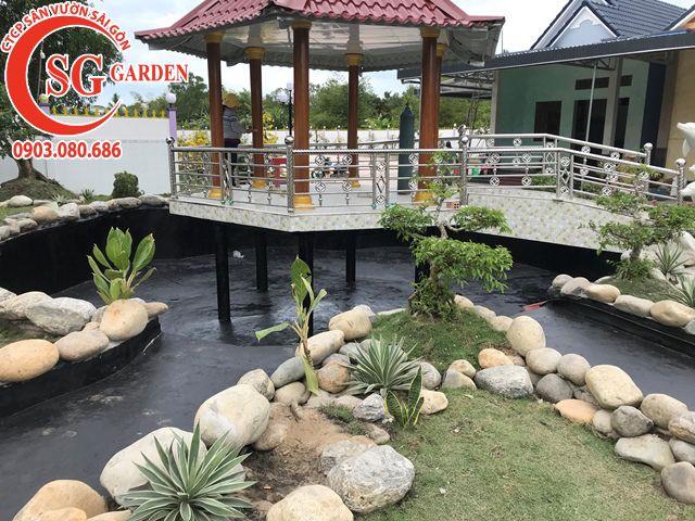 Thi Công Sân Vườn Anh Tú Tỉnh Hậu Giang 10