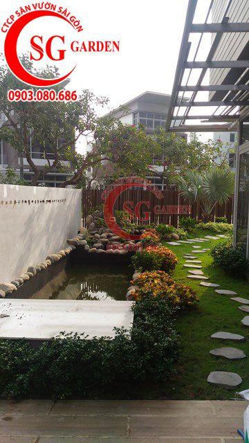 Hoàn Thành Sân Vườn Nhà Anh Sơn Quận 9 1