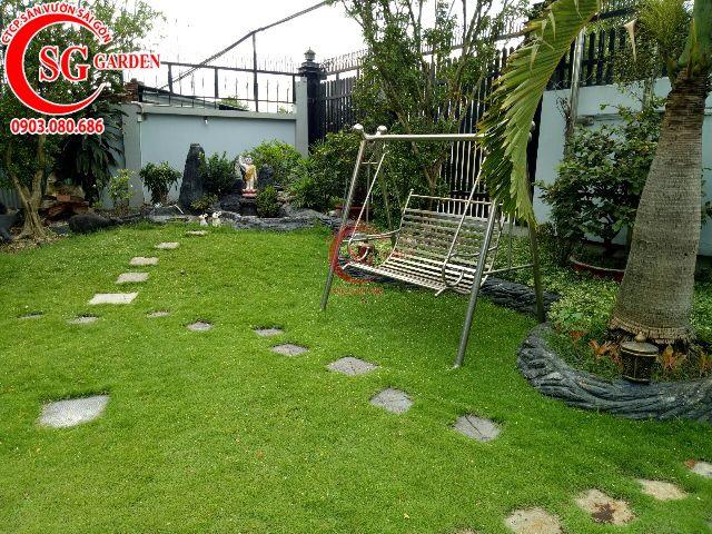 Thi công hoàn thành sân vườn anh Dũng Bình Dương 3