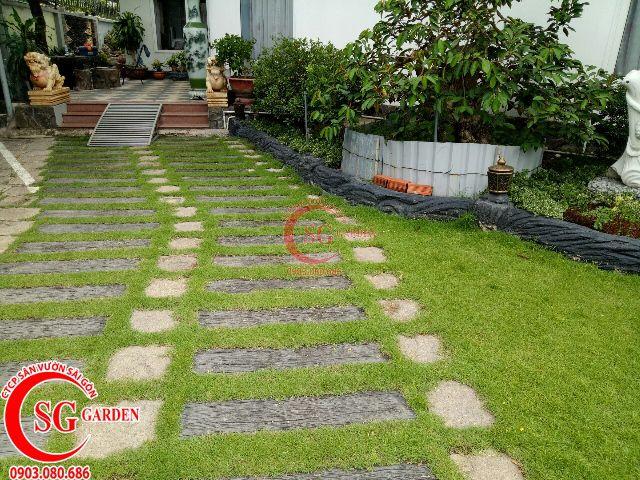 Thi công hoàn thành sân vườn anh Dũng Bình Dương 4
