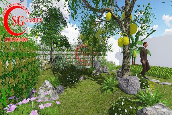 Bản vẽ sân vườn anh Hùng cá sấu hoa cà 11