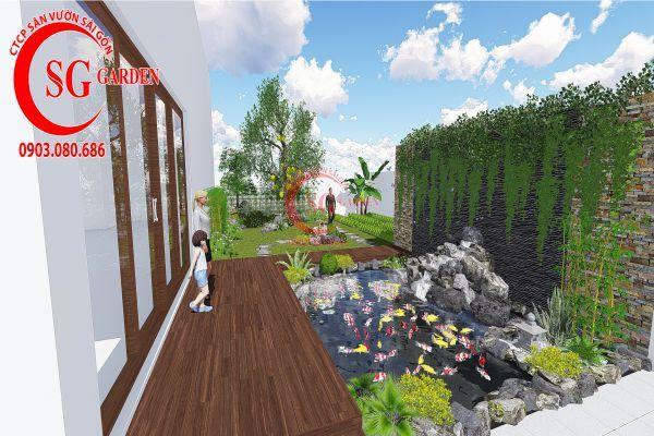Bản vẽ sân vườn anh Hùng cá sấu hoa cà 2