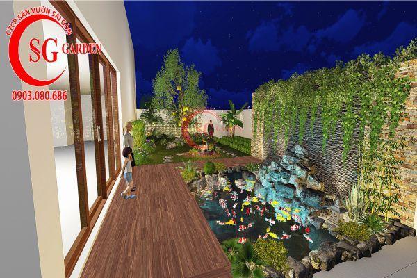 Bản vẽ sân vườn anh Hùng cá sấu hoa cà 3