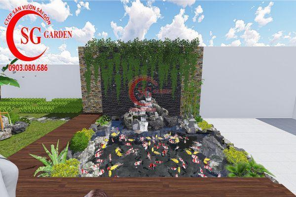 Bản vẽ sân vườn anh Hùng cá sấu hoa cà 4