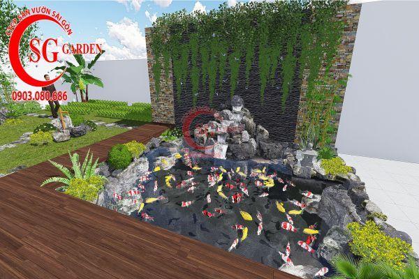 Bản vẽ sân vườn anh Hùng cá sấu hoa cà 5