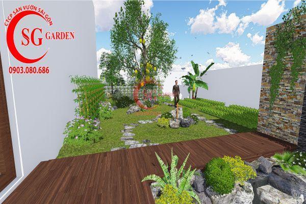 Bản vẽ sân vườn anh Hùng cá sấu hoa cà 6