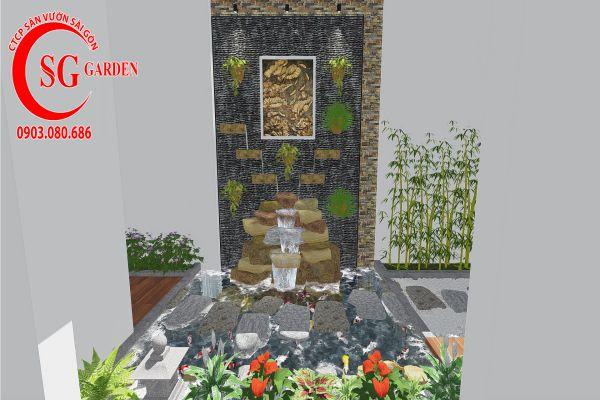 Thiết kế sân vườn anh Khanh Bình Tân 10