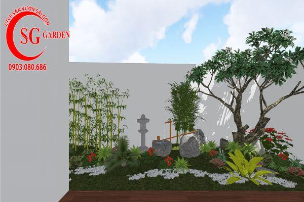 Thiết kế sân vườn anh Khanh Bình Tân 11