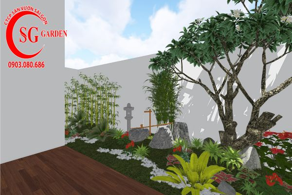 Thiết kế sân vườn anh Khanh Bình Tân 12