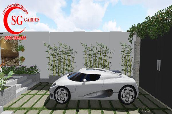Thiết kế sân vườn anh Khanh Bình Tân 3