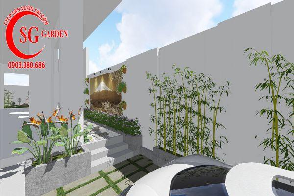 Thiết kế sân vườn anh Khanh Bình Tân 4